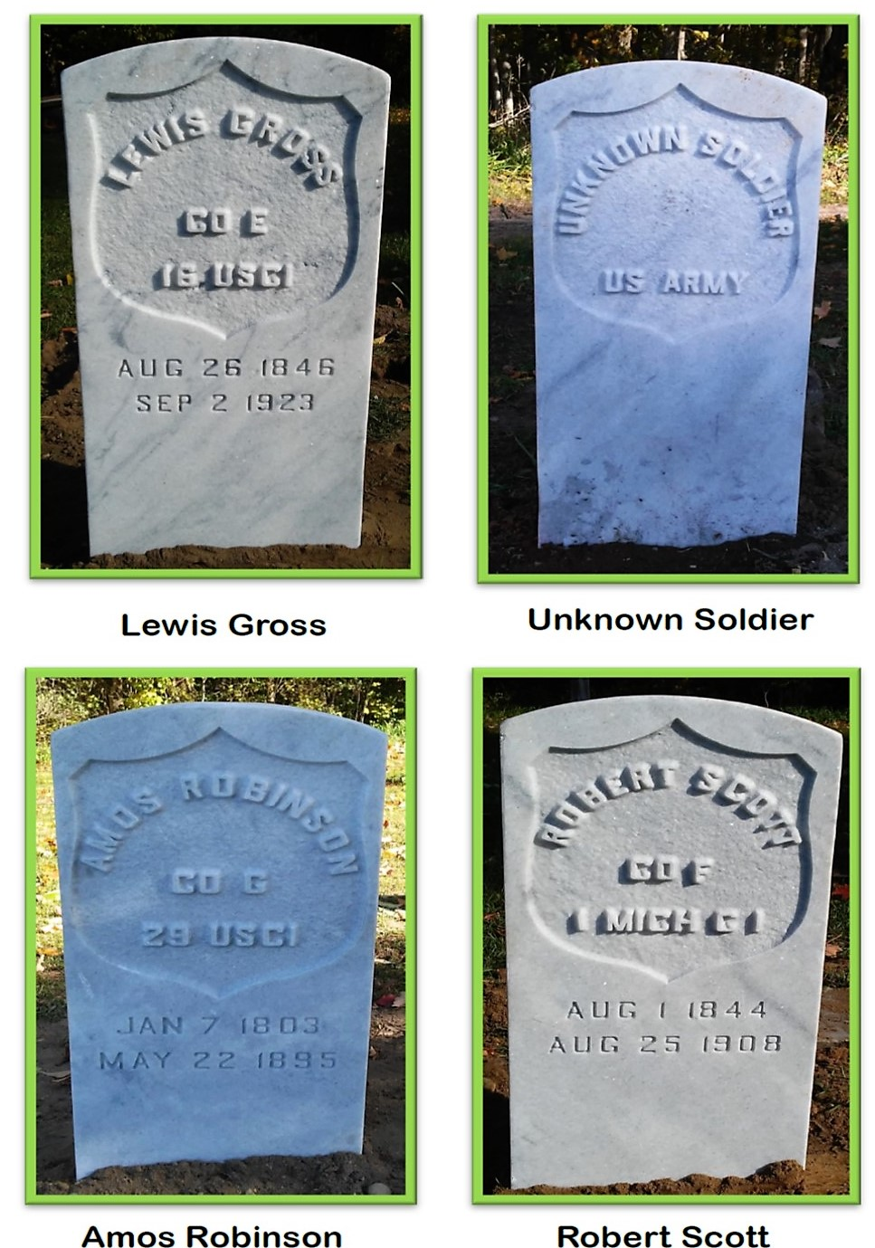 Civil War Veteran Headstones