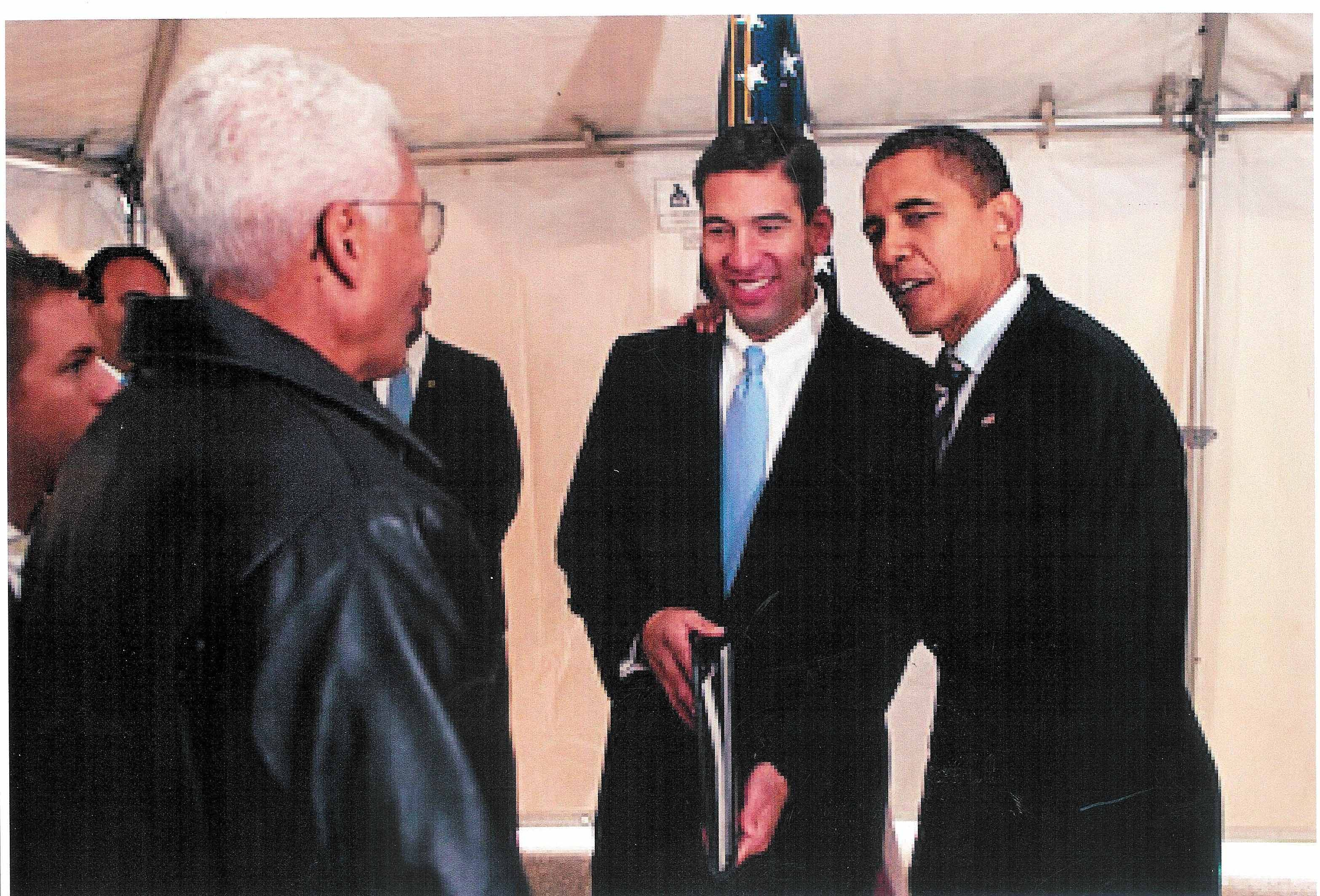 Pat Miles and Barack